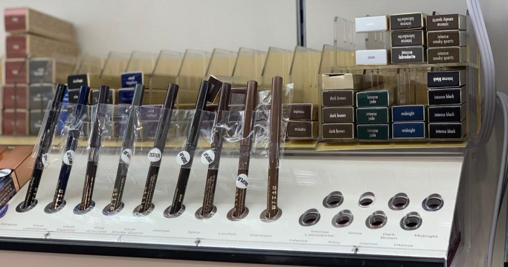 Boxes of Stila Waterproof Liquid Eyeliner in-store at Ulta