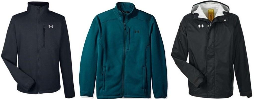 three Under Armour jackets