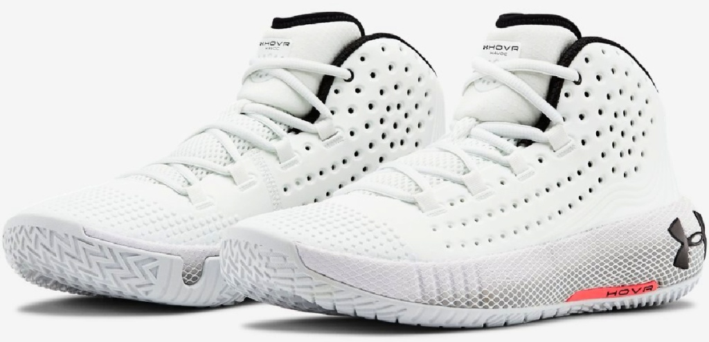 Under Armour Men's UA HOVR Havoc 2 Basketball Shoes in white