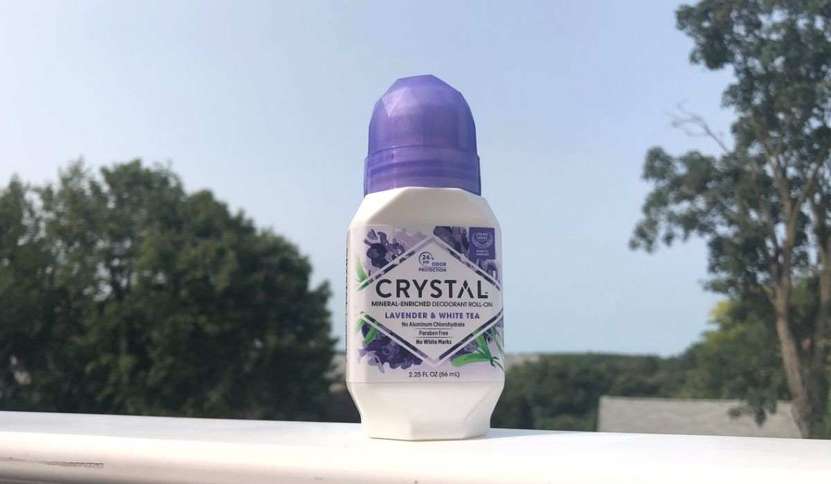 A Crystal deodorant roll-on outside