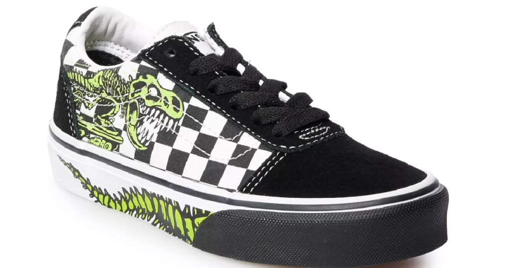 vans kids dino lace up skate shoe