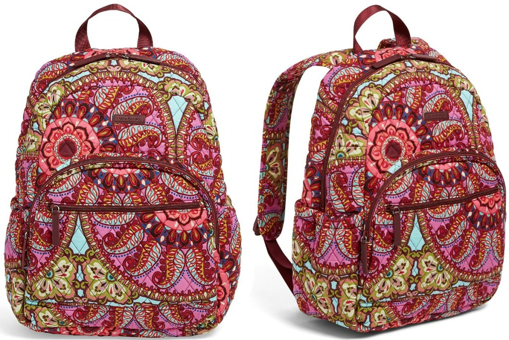 Large paisley print backpack - two angles