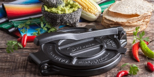 Cast Iron Tortilla Press Only $19.59 on Amazon (Regularly $50)