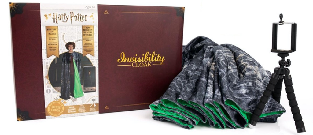 Harry Potter Invisibility Cloak and tabletop tripod