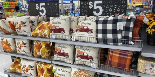 Seasonal Throw Pillows Just $5 at Walmart | Additional Fall Decor Items from 98¢