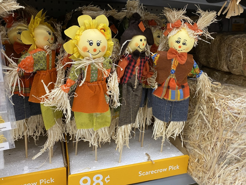 Fall Harvest Scarecrow Picks in-store at walmart