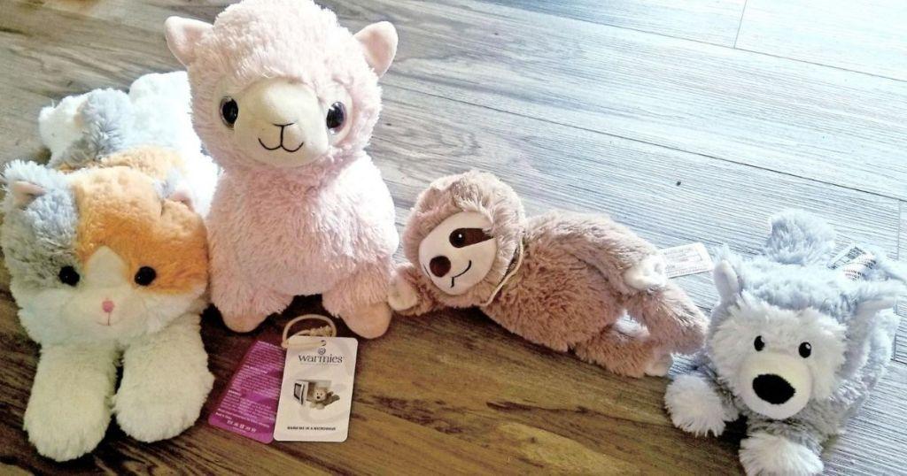 Four Warmies Junior Stuffed animals