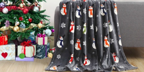 TEN Holiday Throw Blankets from $32.99 Shipped (Just $3 Each) | Great Gifts
