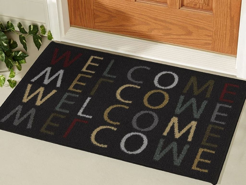 Welcome Mat that says welcome on it