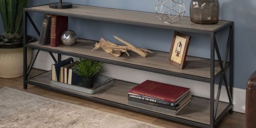 Metal & Wood X-Frame Shelf Only $149 Shipped (Regularly $299)