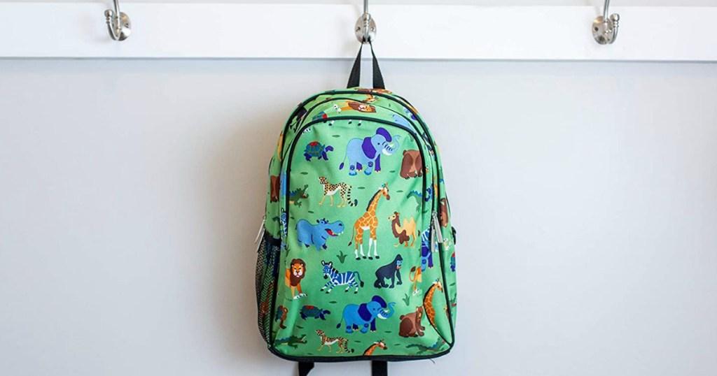 Wildkins Wild Animals Backpack hanging on hook
