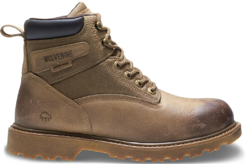 brown Wolverine work boots