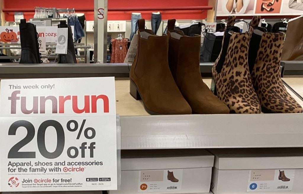 Women's Ankle Boots on Shelf at Target