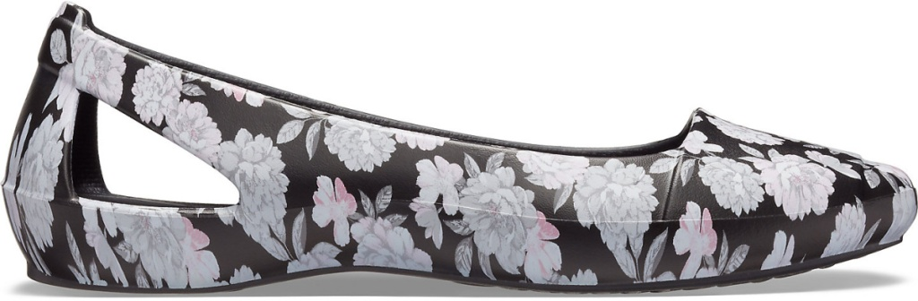 floral crocs flats