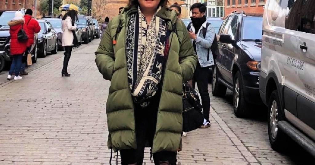 Women's Long Hooded Puffer Down Jacket