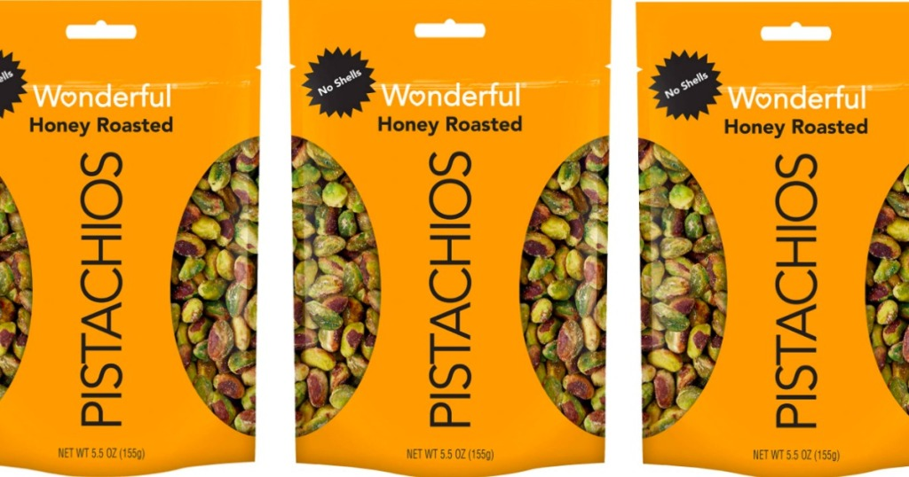 wonderful pistachios in a package