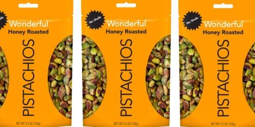 Wonderful Honey Roasted Pistachios 5.5oz Bag Only $3.60 Shipped (No Shells!)
