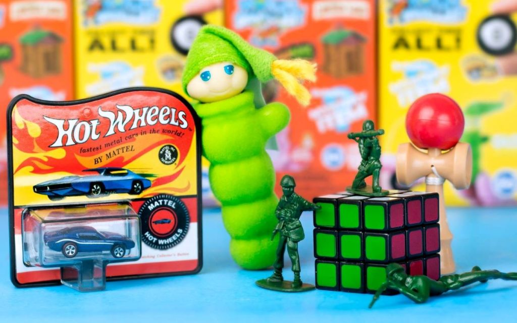 world's smallest car, glo worm, GI Joe and rubiks cube