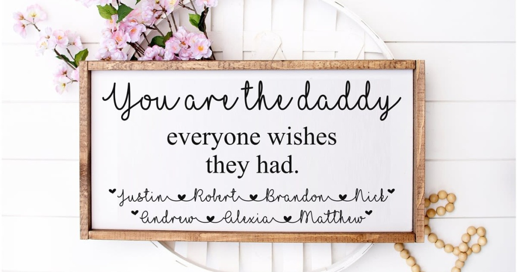 personalized you are the daddy sign