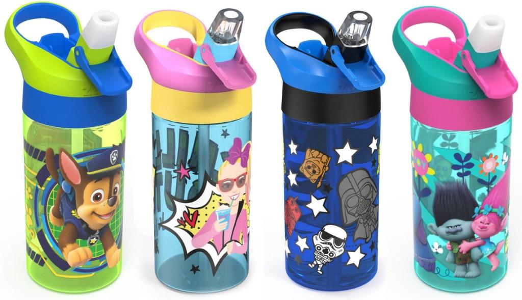 Zak! Designs Kid's Character 17.5oz Water Bottles