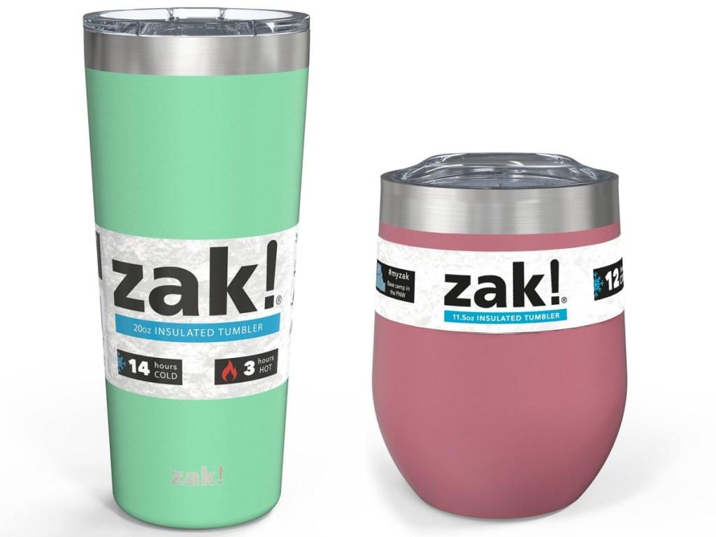 Zak Designs tumbler and insulated tumbler