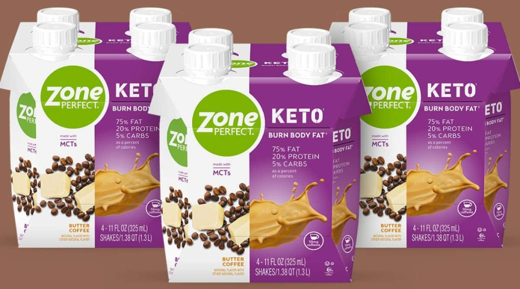 ZonePerfect Butter Coffee 12-Count Keto Shakes