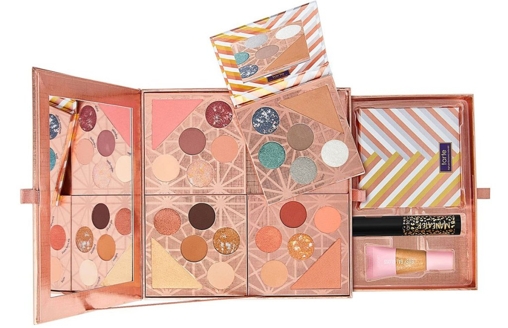 tarte eyeshadow palette made up of four mini palettes