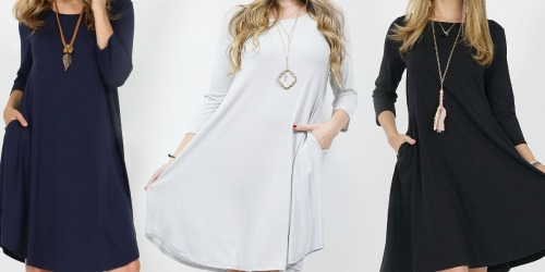Women's Tunic Dresses w/ Pockets Only $9.99 | Includes Plus Sizes