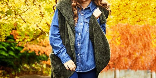 Women's Faux Fur Hooded Vest w/ Pockets Just $12.99 on Zulily | Includes Plus Sizes