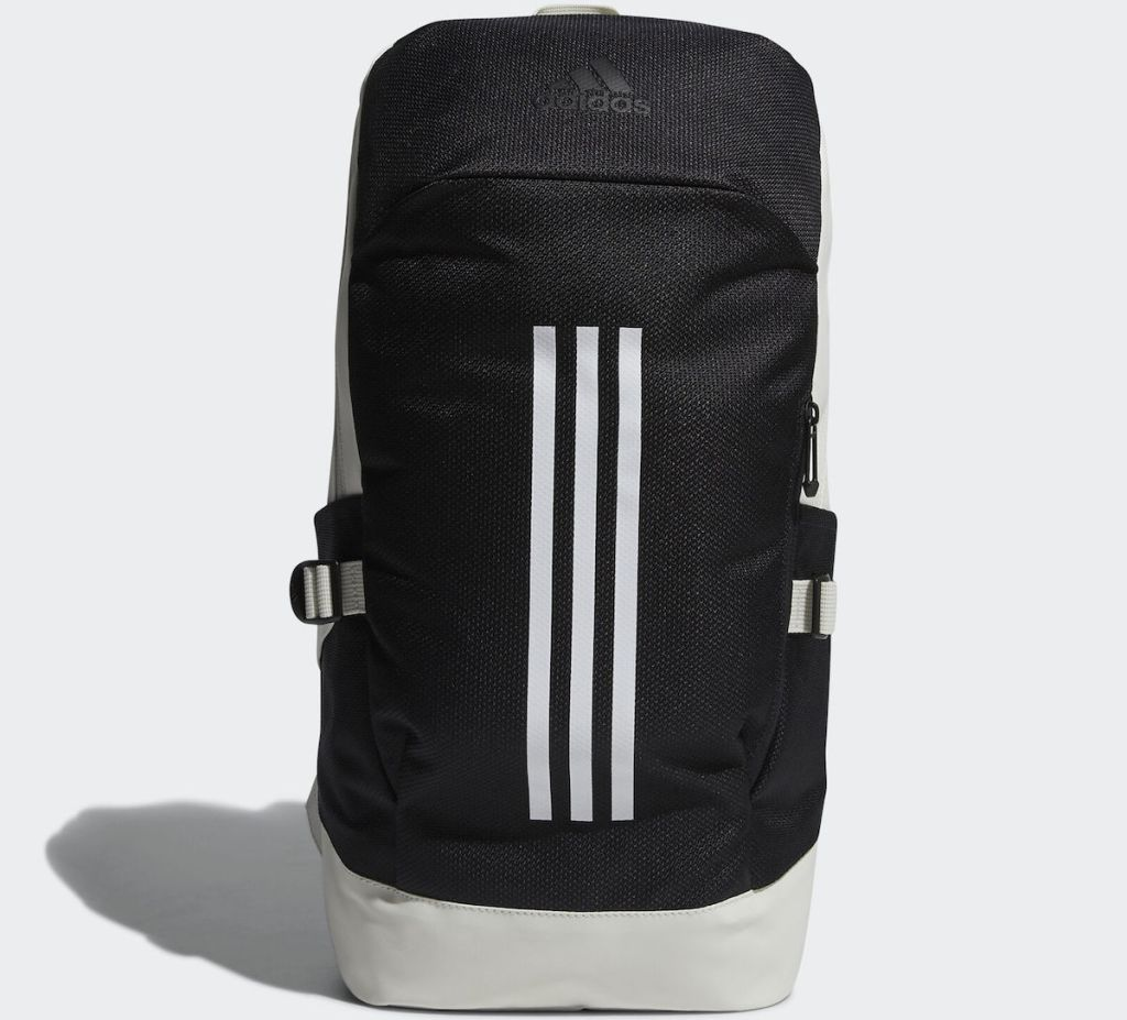 black white and grey backpack