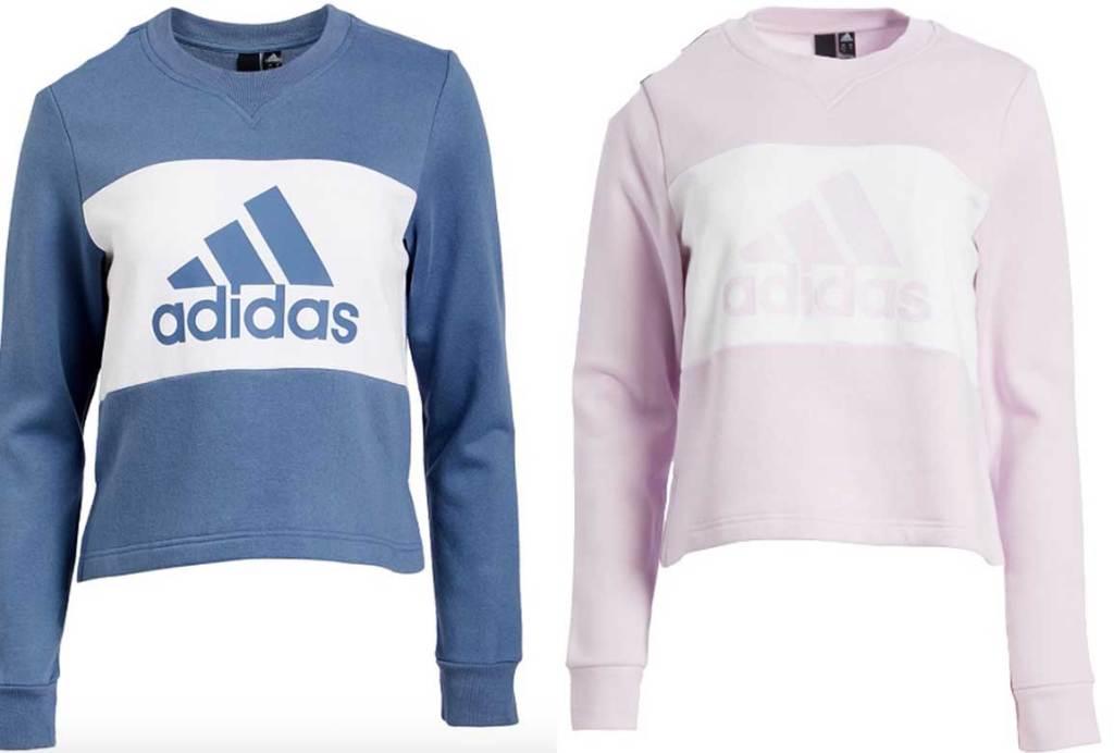 men and women pink and blue sweatshirt
