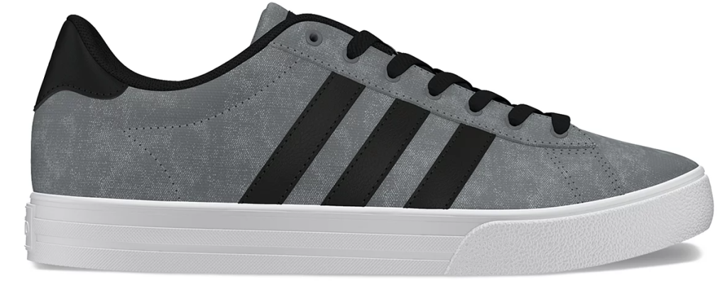 black, white and grey adidas sneaker