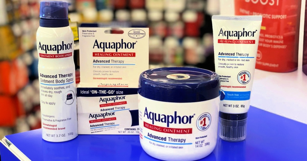 aquaphor products on table