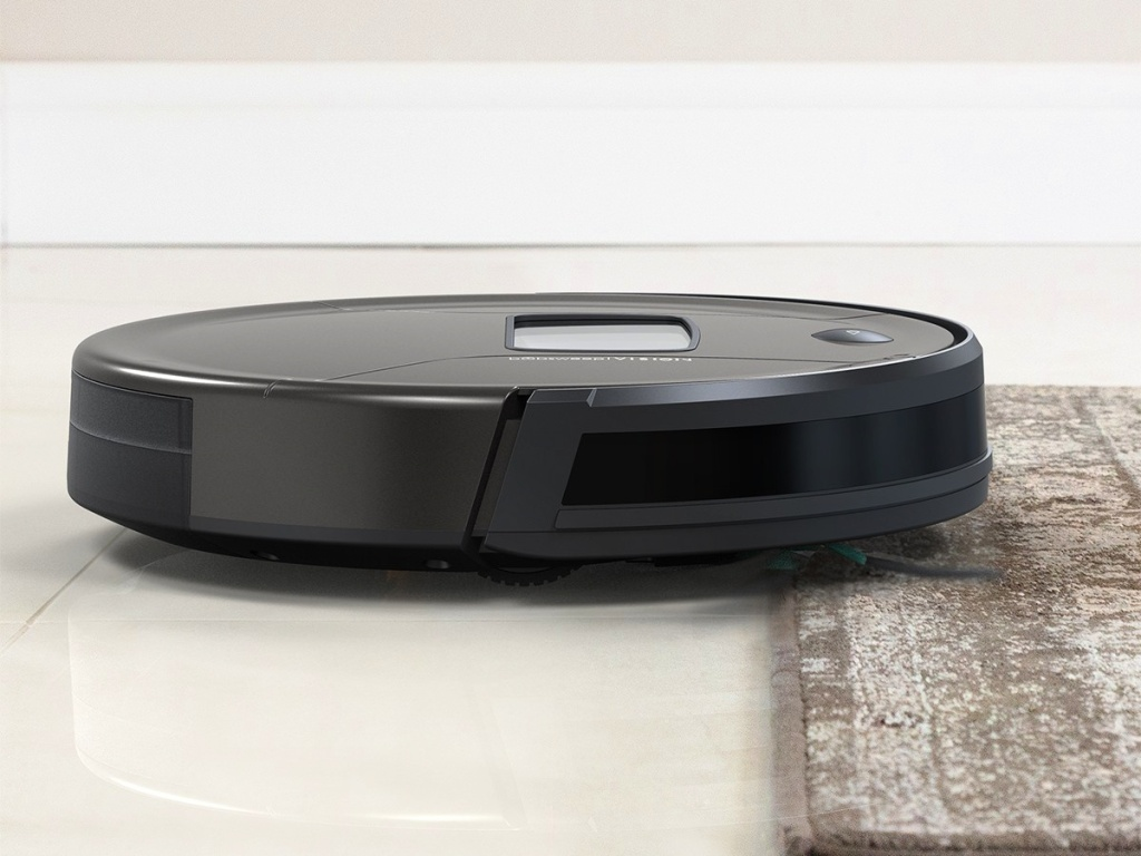bObsweep PetHair Vision Wi-Fi Enabled Robotic Vacuum in Space Gray Matte