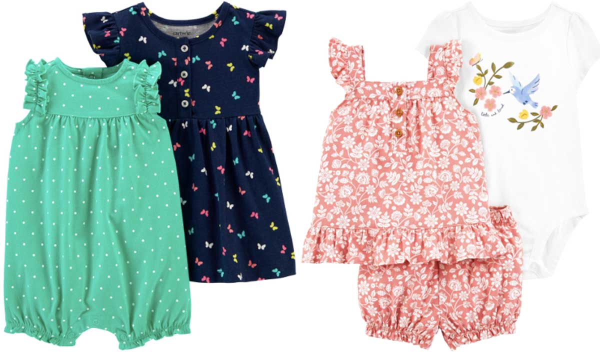 baby girls romper set and girls outfit