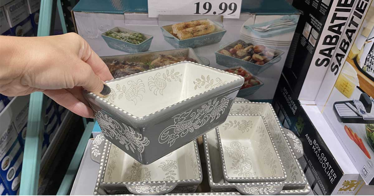 hand holding a serving dish