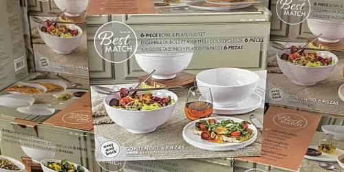 6-Piece Bowl and Plate/Lid Set Only $11.99 at Costco | Lid Covers Food and Flips to Serve as Plate