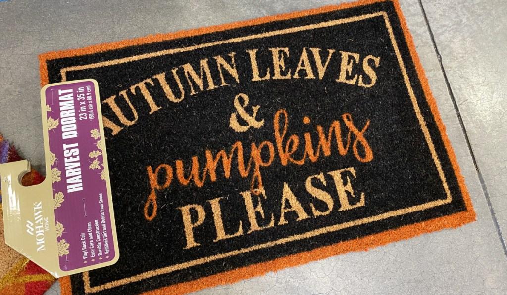 black doormat for fall