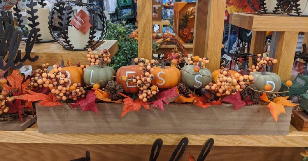 blessed pumpkin centerpiece at kohls