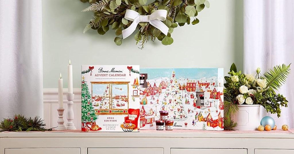 Bonne Maman advent calendar on a shelf