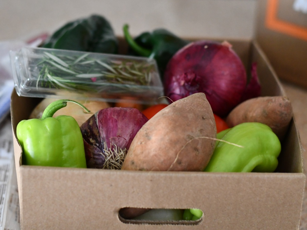 box of root vegetables