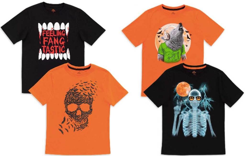 boys graphic halloween tees