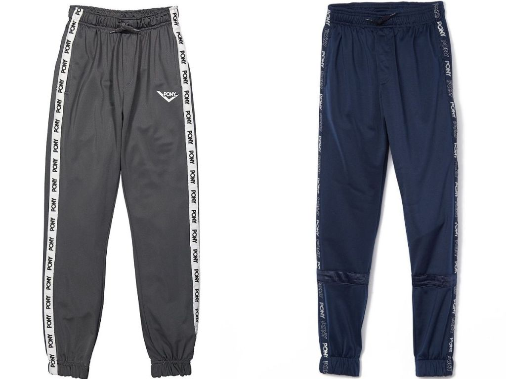 PONY gray and navy joggers