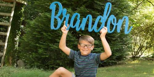 Oversized Personalized Name Sign Just $36.99 Shipped