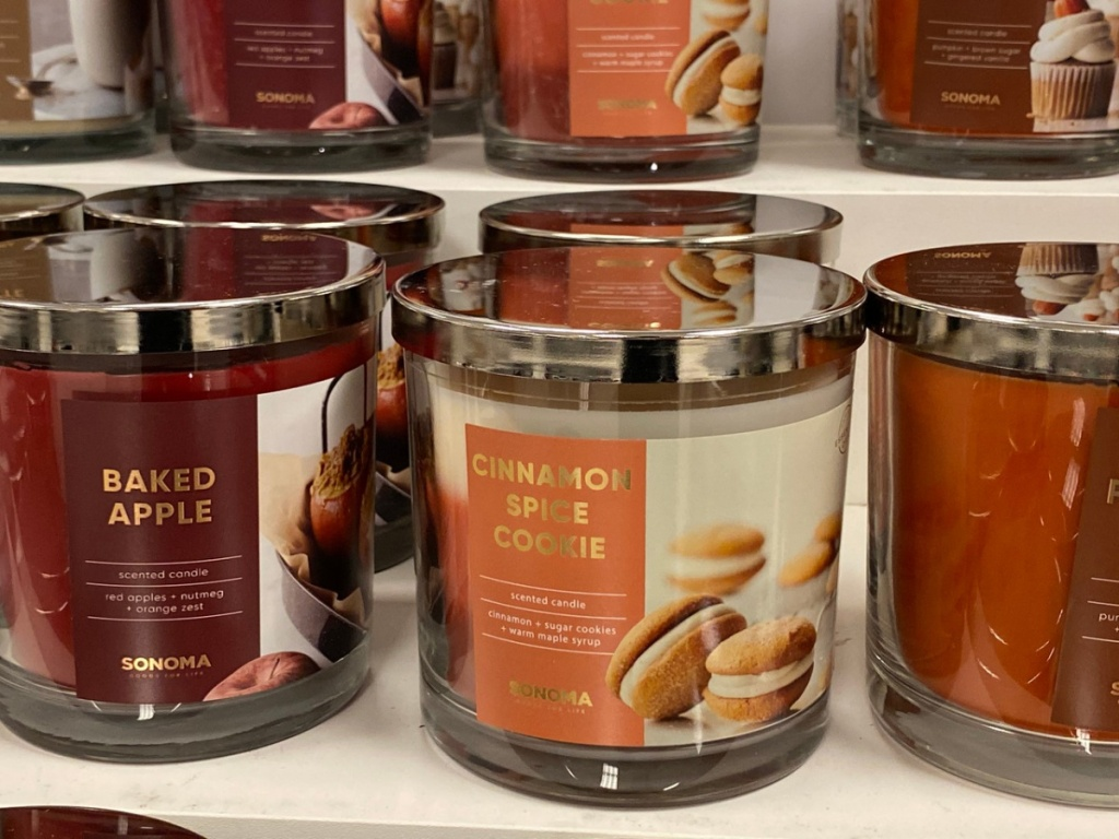candles on store shelf