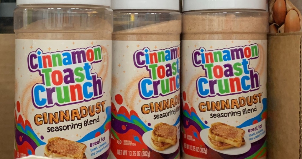 3 bottles of cinnamon sugar next to each other