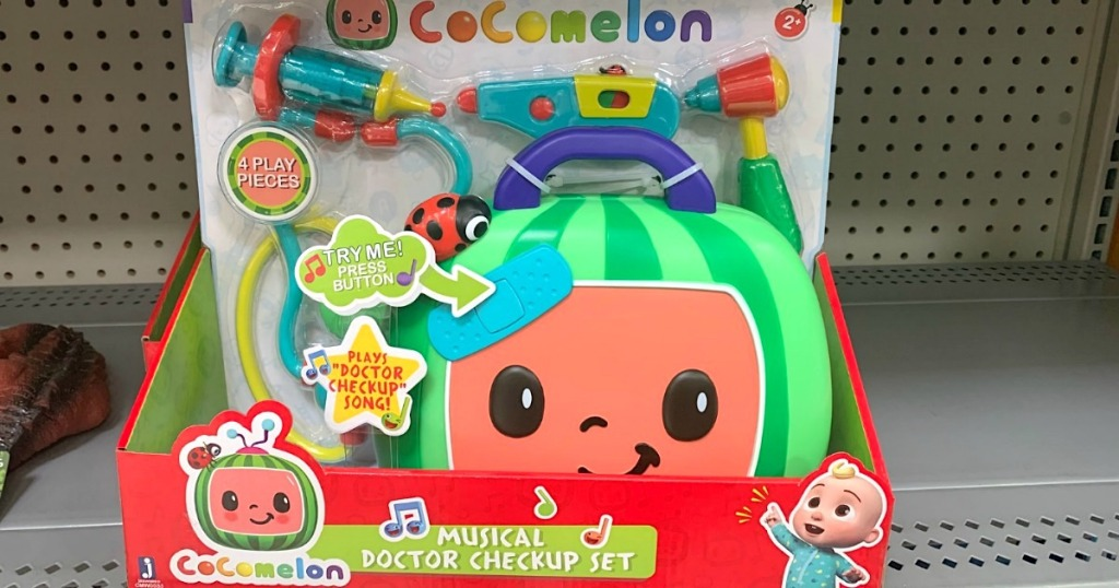 cocomelon check up case toy on store shelf