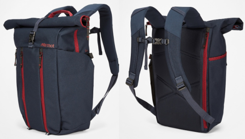 colma marmot backpack front and back