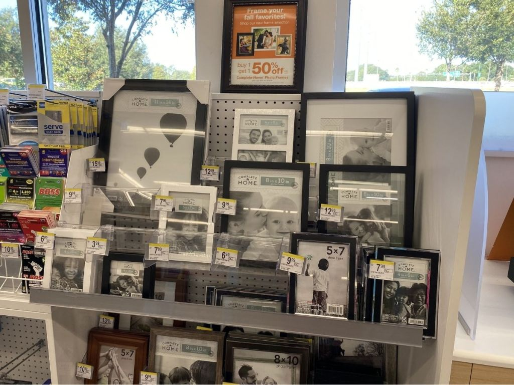 Comfort Home Photo Frames on display in store