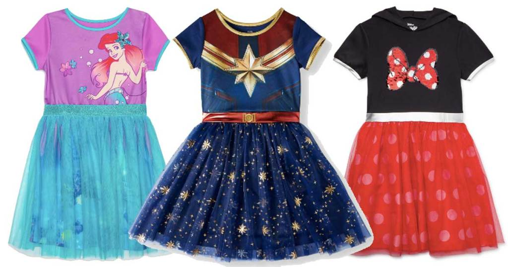 NEW Minnie Mouse hooded dress reversible sequin cosplay dress up tutu tulle
